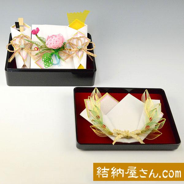 結納-略式結納品- 雪月花アレンジセット1【指輪飾り付】