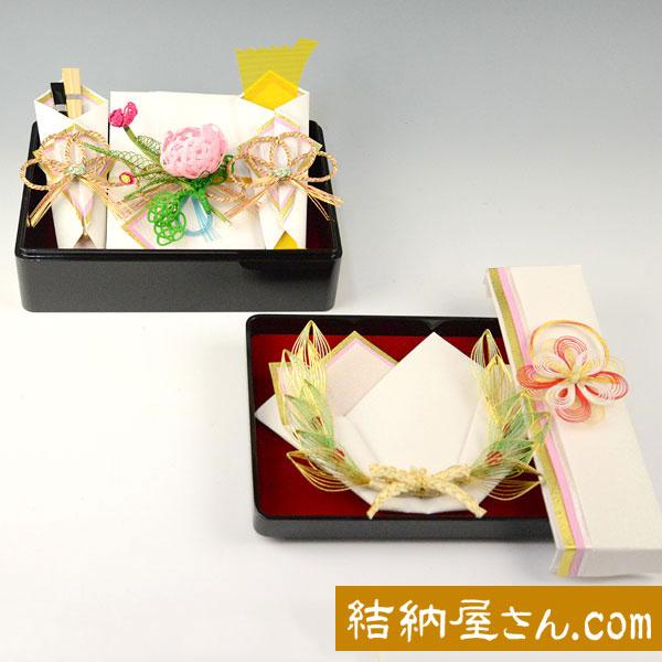 結納-略式結納品- 雪月花アレンジセット3【指輪飾り・目録(縦長)付】