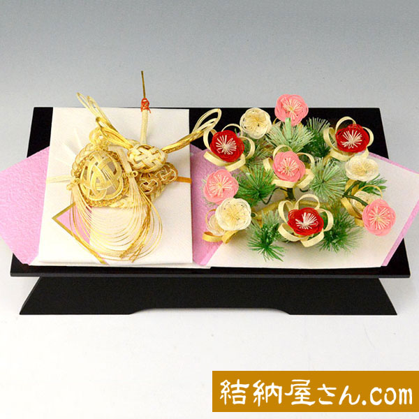 結納-略式結納品- 指輪花セット(毛せん付)