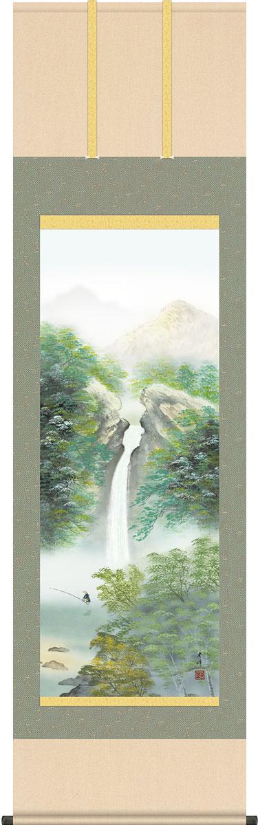掛軸(掛け軸) 四季情景 夏「清風情景」  小林秀峰作 尺五立 約横54.5×縦190cm【送料無料】g4655