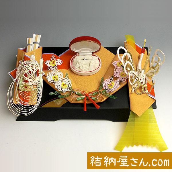 結納 -指輪メインの結納品-美雪指輪セット(毛せん付)