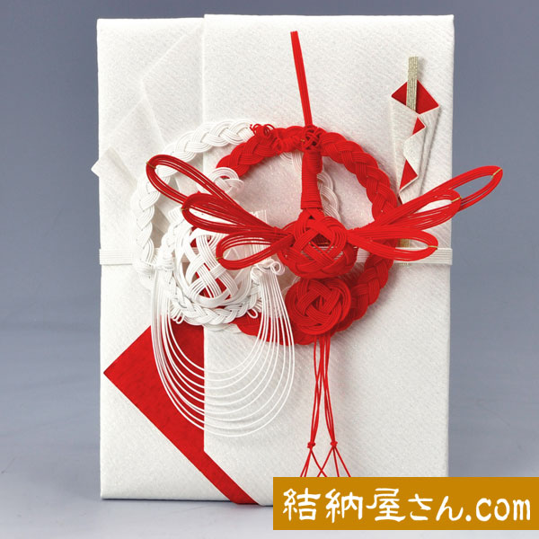 NEW 結納-略式結納品- 人気の製品 結納金封 赤白絹巻 鶴亀