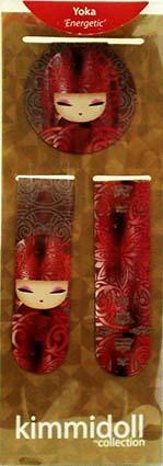 kimmidoll(キミドール)【マグネットブックマーク】YOKA(ヨウカ)(KS0934)両面で柄が異なるマグネット式ブックマーク 本のしおりとして 冷蔵庫に貼り付け 裏面の磁石がしっかりホールド ユニークで形状・柄の違う3つセット オーストラリアの輸入雑貨・日用品