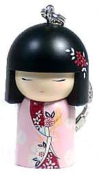 kimmidoll(キミドール)【キーホルダー】NORIKA(ノリカ)(TGKK086)こけし人形/フィギュア/かわいい/おしゃれ/輸入雑貨/オーストラリア生まれ