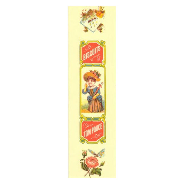 フランスから届いたお洒落なしおり『お菓子』(SI0082)ブックマーク/光沢紙/アート/絵画/作家/おしゃれ/フランス/輸入雑貨・日用品