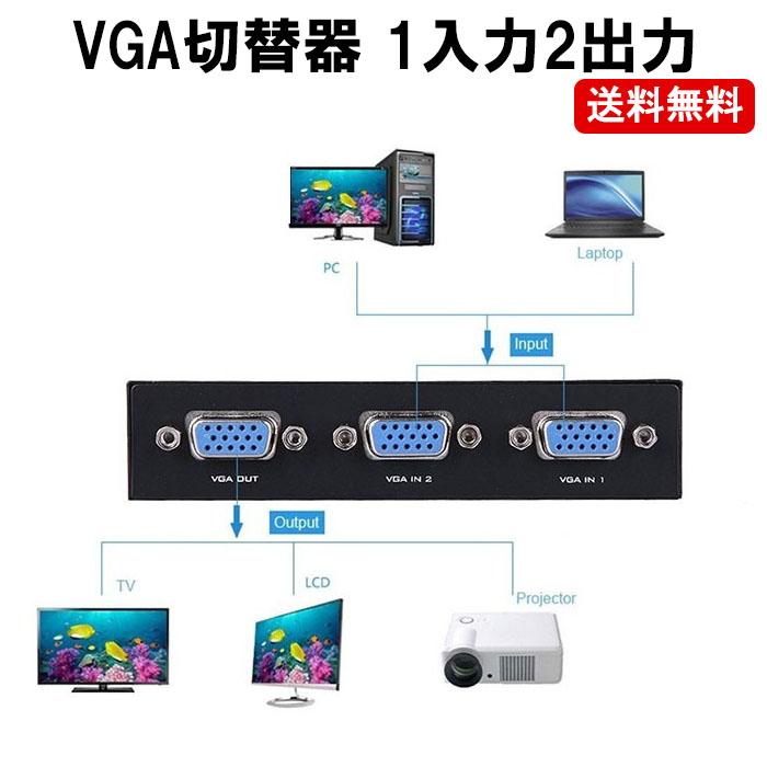 送料無料で販売中 永遠の定番 複数のVGAを切替可能です VGA 切替器 2入力1出力 ディスプレイ D-sub 日本最大級の品揃え CP モニター