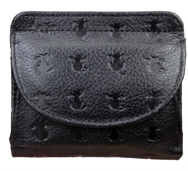 Japan-made leather pussy cat wallet type press box purses leather type with a two fold a cute purse cat design, leather wallet making short wallet made in Japan, a premium card case wallet compact lightweight leather wallet purse gift 927 Christmas winter