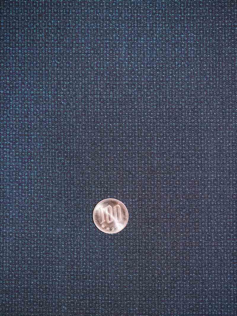 男物着物・羽織生地 o-21 亀甲かすり柄・濃紺地