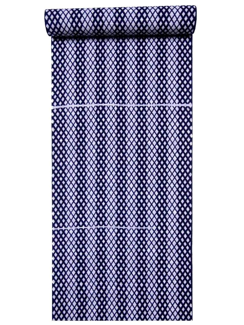 浜松本染めゆかた生地 キングサイズ 浴衣 再入荷/予約販売! 買い取り 反物 メンズ 灰 紺色地 縞 No.539 タスキ柄
