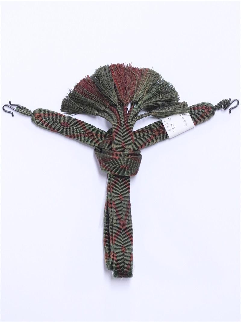 男 羽織紐の通販  hh-70  モスグリーン地・平組