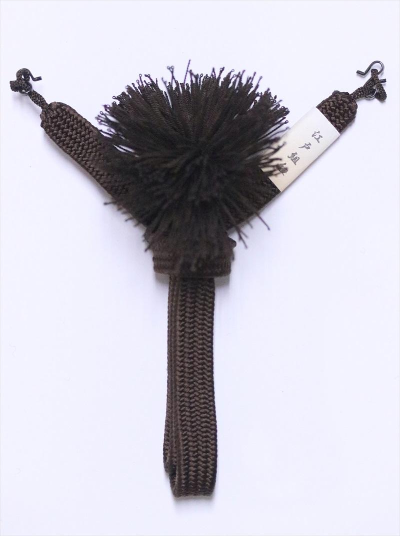 男 羽織紐の通販  hh-74  こげ茶地・江戸組紐