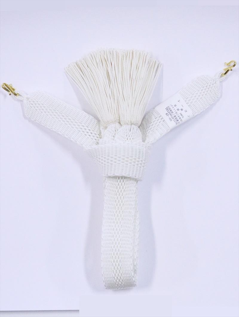 羽織紐 男性 hh-79・白地・夏物