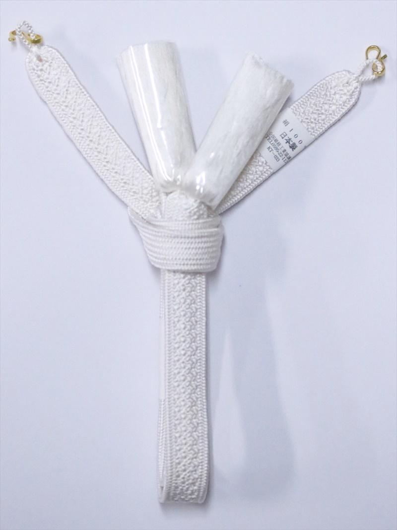 羽織紐 メンズ・hh-81白地・礼装用