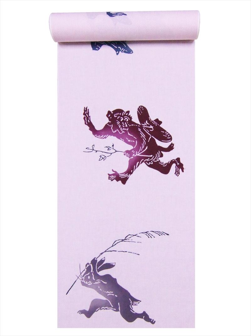 浴衣 反物 浴衣 No.579薄ピンク地 反物・鳥獣戯画柄, マルエム ストア:4dbce086 --- officewill.xsrv.jp