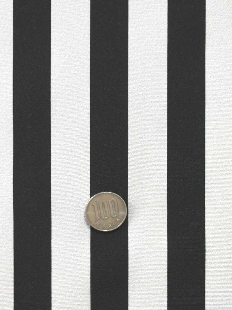 棒縞小紋 kk-65 白黒地・反物