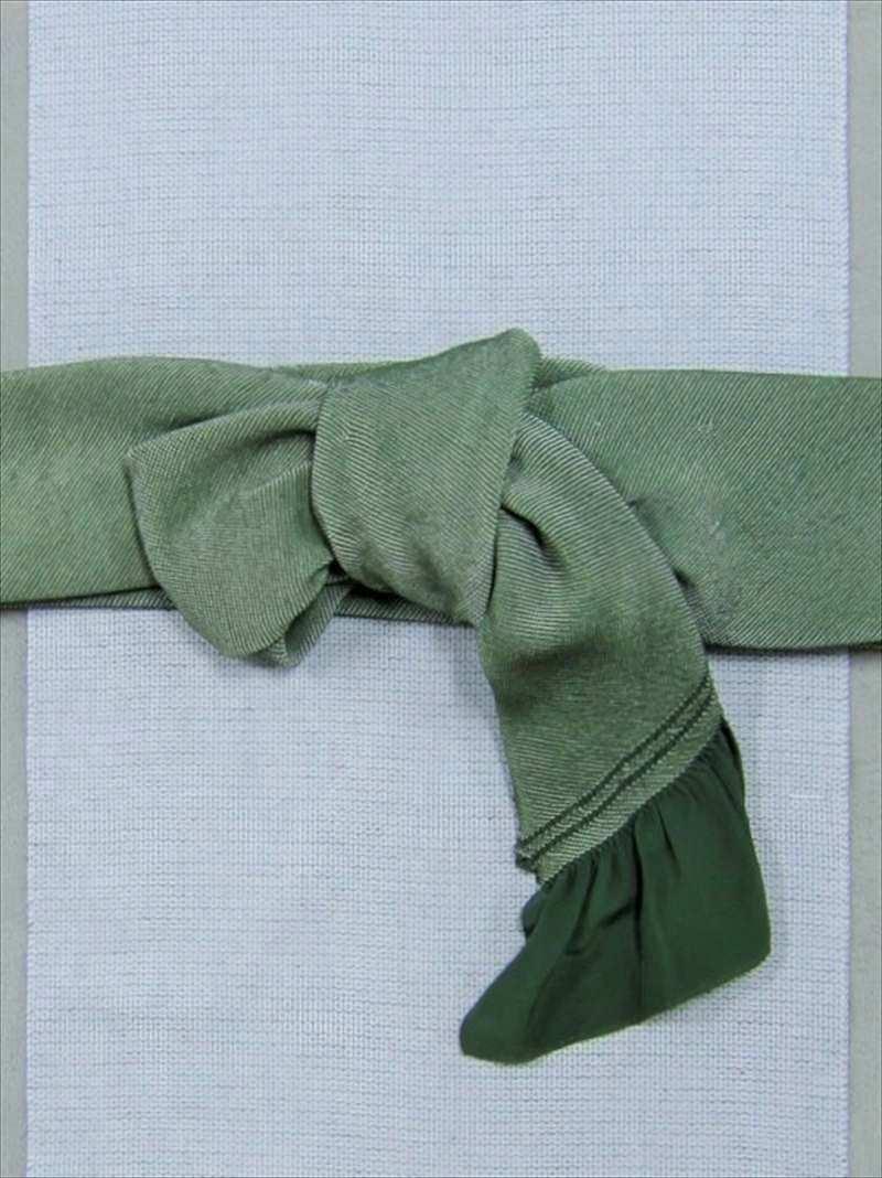 総絞り兵児帯  No.316濃緑地・鹿の子絞り柄