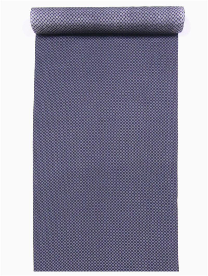長襦袢 反物・nj-42市松柄・黒・グレー色