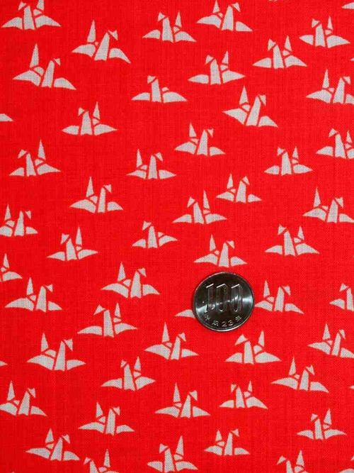 赤い長襦袢反物 nj-104 nj-104 もすりん・折り鶴柄, blade and co:a1e3412d --- rakuten-apps.jp