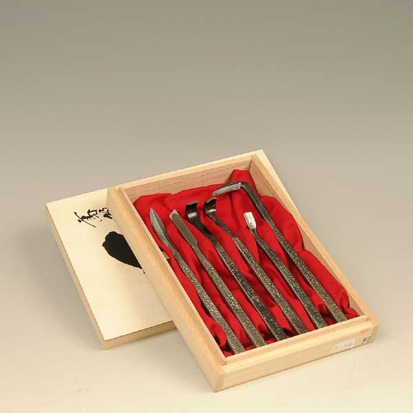 シャリ作りに最適:彫刻刀6点セット(木箱入り)