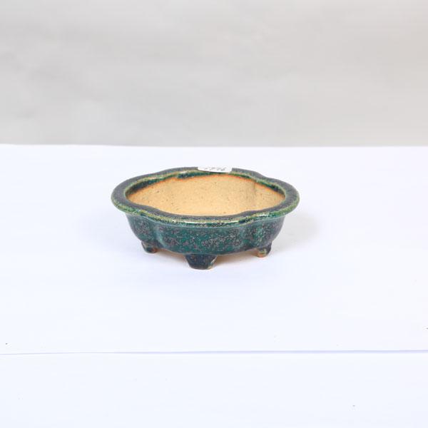 鴻陽 モッコ縁付鉢  10.5cm【現】