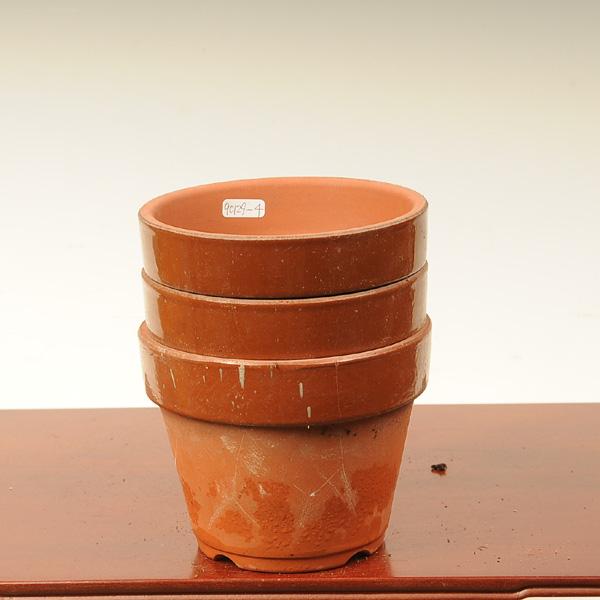 B品です 中古 値下げ 即出荷 お得 素焼き深鉢4号3個セット