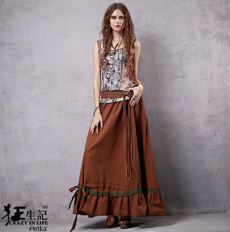 yuki-closet | Rakuten Global Market: Cute new skirt long ethnic ...