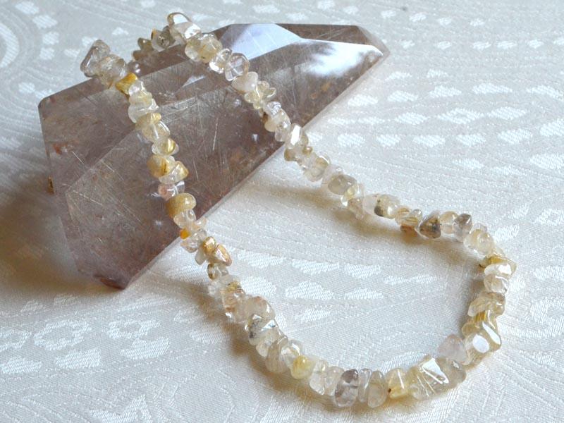 針水晶 さざれネックレス/45cm