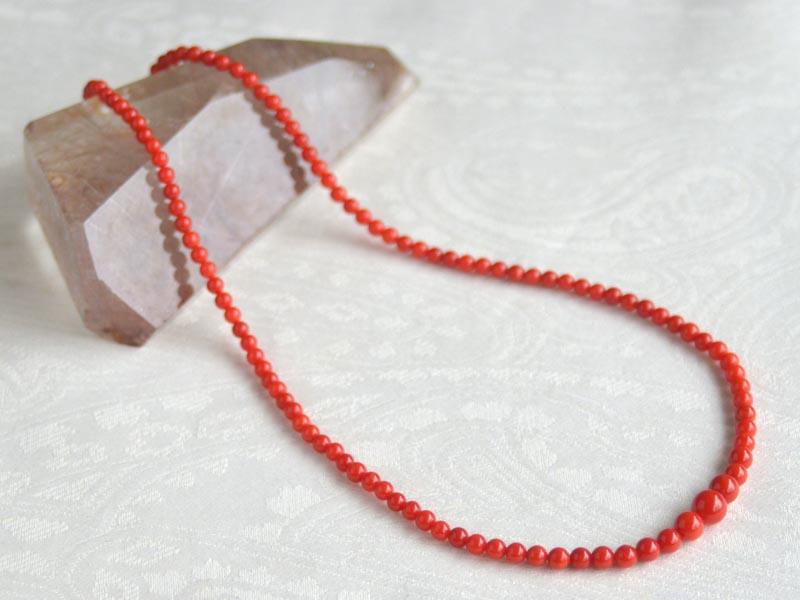 胡渡り珊瑚ネックレス約7.9~4mm