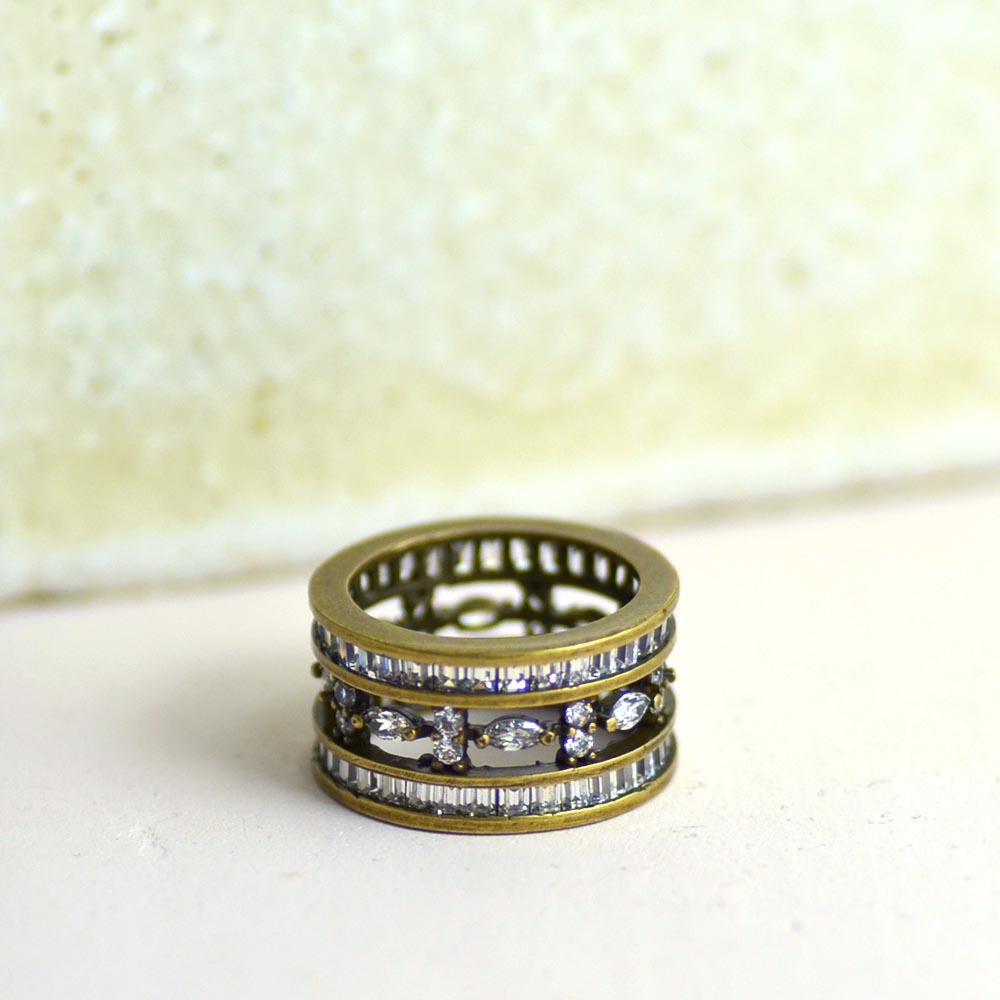 SV925 古美金 キュービックジルコニア 透かしフルリング リング オンラインショッピング SV シルバー 925 指輪 幅広 ユキコ 女性 オオクラ アクセサリー ギフト おしゃれ ジュエリー プレゼント ブランド にも 送料無料 トラスト
