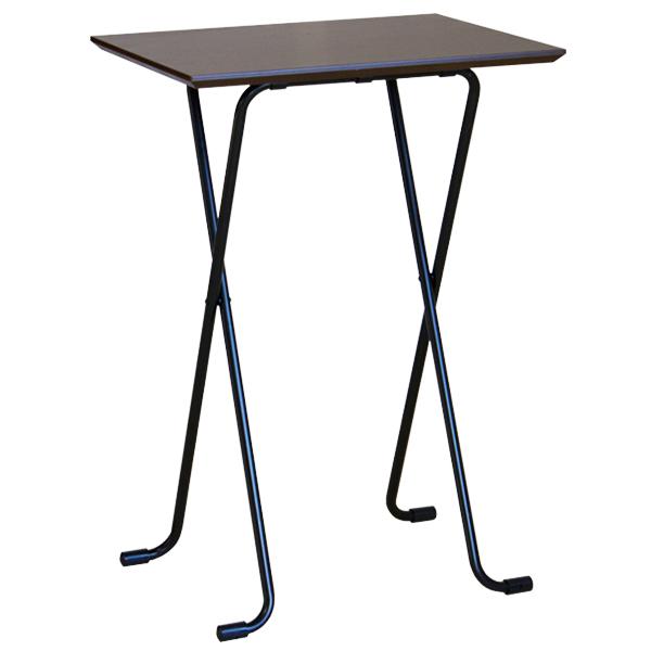 【大型商品】 折りたたみハイテーブル角型 W82TD ダークブラウン