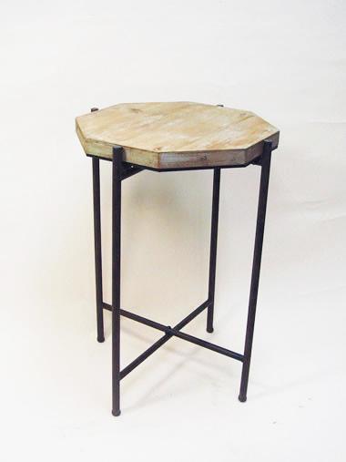 送料無料 カントリー調のサイドテーブル ランプテーブル 八角形 1408-BAH-014フラワースタンド