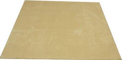 ムートン調ラグブランシュ185×185アイボリー