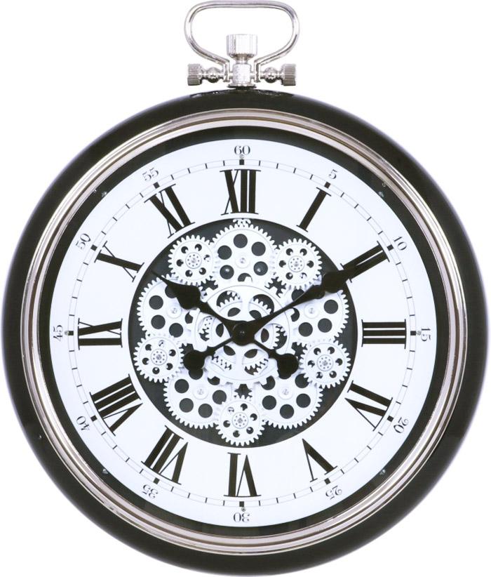 ビッグ掛け時計 ギア Lサイズ ブラック 直径52cm  <時計 掛時計 壁掛け クロック 大きい ビッグ でかい 歯車 clock 27222>