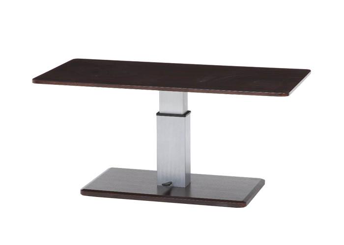 昇降式 センターテーブル キャスター付 ブラウン 9050 10497  <ダイニングテーブル ローテーブル テーブル リビングテーブル 高さ調整 ソファ用 リフトアップテーブル 昇降 机 ブラウン>