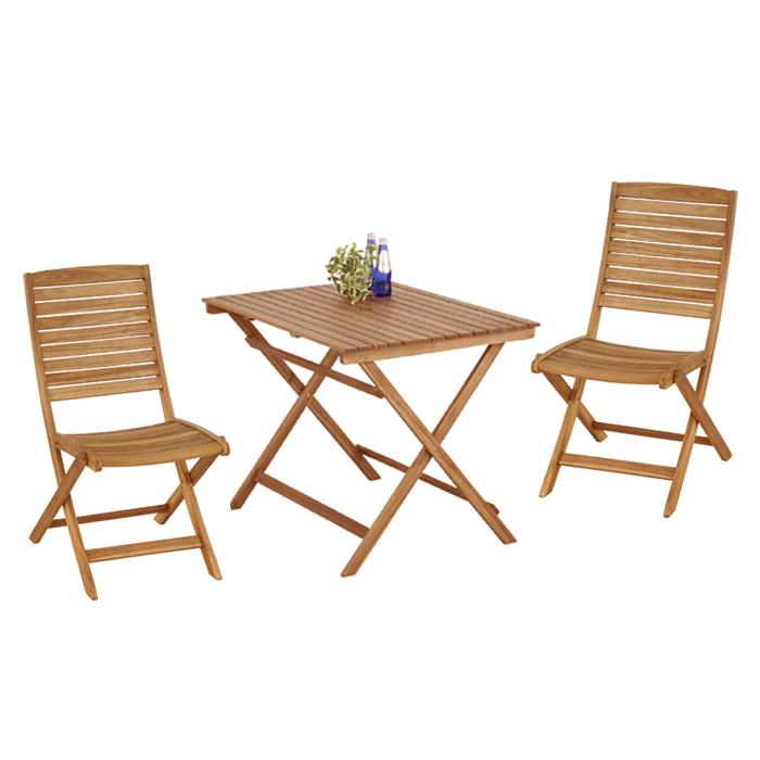 【大型商品】 ガーデンテーブル チェア2脚 3点セット azu801-903  <チェアー ガーデンテーブル ガーデンチェアー テラス ベランダ 木製 ニノ バイロン キャンプ アウトドア NX 801 903 折畳み>