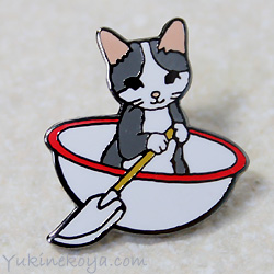 トートバッグやポーチに付けて私だけのオリジナルに 猫ピンズ 全商品オープニング価格 格安店 おわん グレー白 ポタリングキャット ピンバッチ 文房具 ねこ キャット ステーショナリー 猫雑貨 ネコグッズ