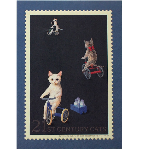 壁に飾ってもステキなインテリアになります 猫のポストカード 三輪車 ポタリングキャット 国内即発送 絵葉書 絵はがき 文房具 割引も実施中 ステーショナリー ねこグッズ 猫グッズ 猫雑貨 キャット ねこ雑貨 ネコグッズ ネコ雑貨