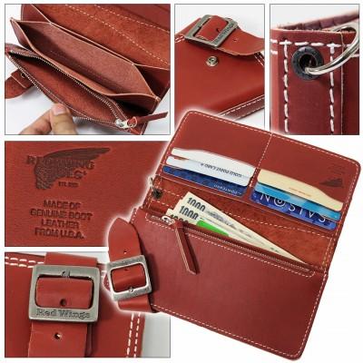 錢包男士紅翼 (紅翼) 溢價 (高級皮革鞋) 皮革錢包長錢包皮革錢包和皮包可用品牌排名禮物禮物皮革