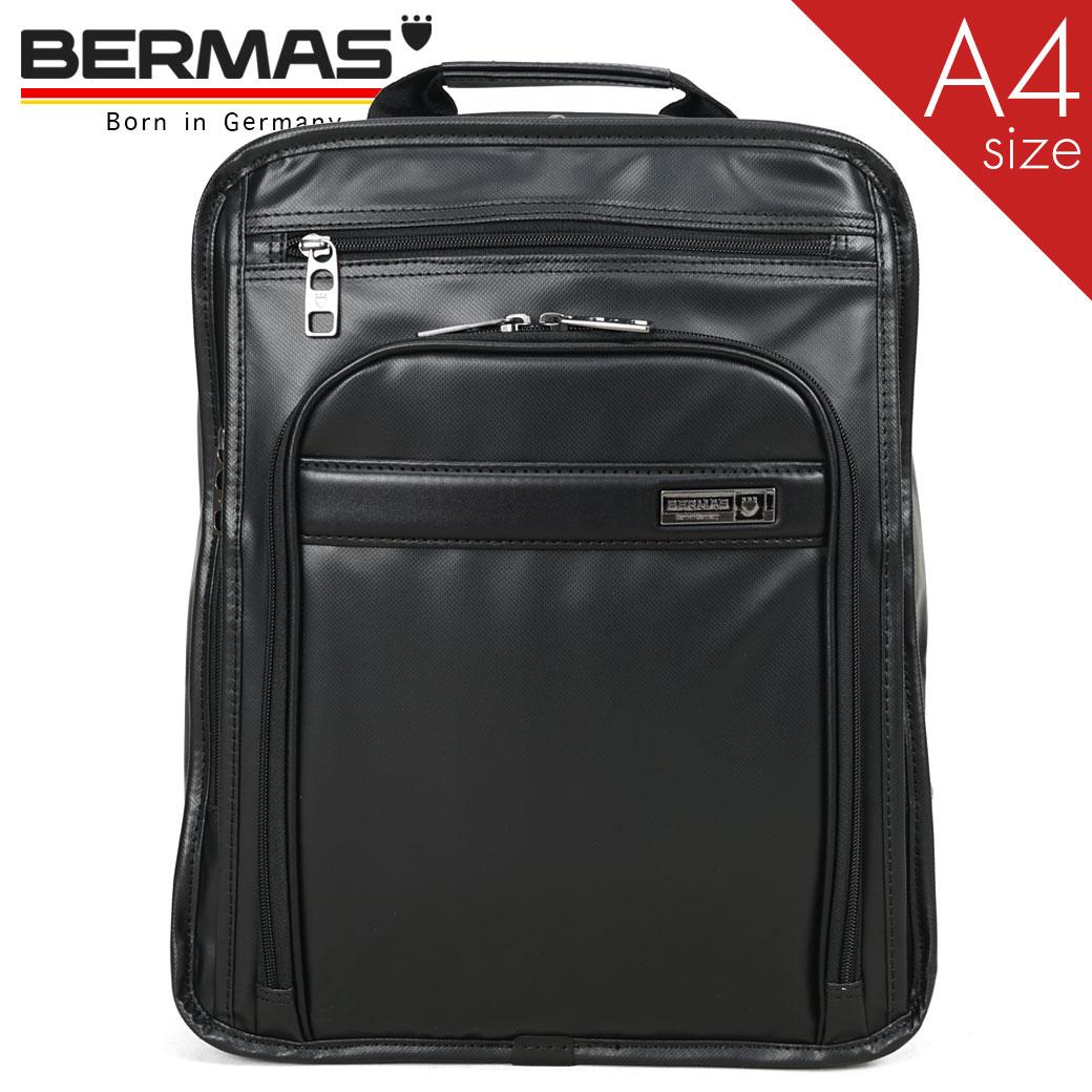 リュック メンズ ビジネス 大容量 BERMAS バーマス インターシティ 2室 A4 ノートPC対応 撥水 ビジネスリュック バックパック メンズ 出張 通勤カバン キャリーオン ブラック メンズバッグ バッグ プレゼント リュックサック ブランド 鞄 かばん カバン 60462