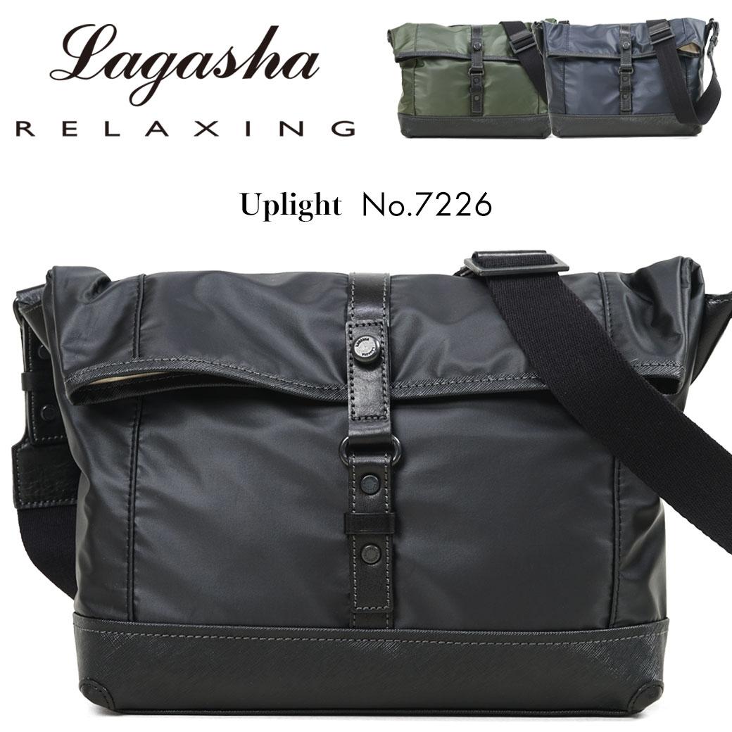 ショルダーバッグ ビジネスバッグ メンズ Lagasha ラガシャ Uplight アップライト 撥水 通勤 通学 斜めがけバッグ 肩がけ メンズバッグ 通勤バッグ 日本製 7226 プレゼント 鞄 かばん カバン bag ブランド 送料無料 海外旅行バッグ