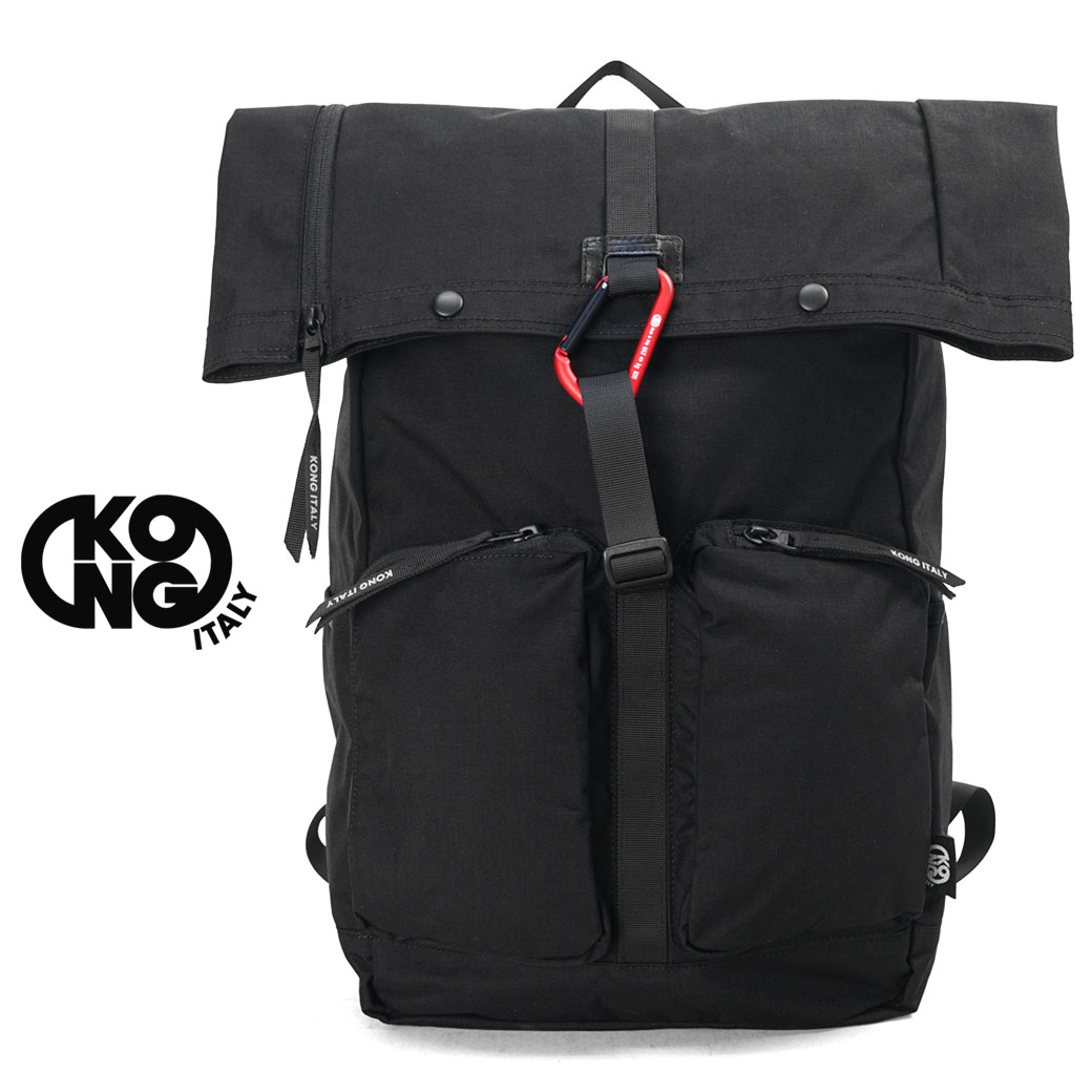 通常のナイロンの7倍の耐久性をもつコーデュラナイロンを使用 53006 リュック メンズ おしゃれ KONG ITALY コングイタリー B4 春の新作シューズ満載 大容量 カジュアル ブランド 海外旅行バッグ 軽量 男女兼用 リュックサック 販売 バッグ