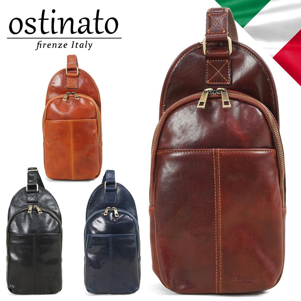 ボディバッグ メンズ ブランド Ostinato オスティナート イタリアンレザー 牛革 イタリア製 ワンショルダーバッグ 革 おしゃれ プレゼント メンズバッグ 斜めがけ バッグ 鞄 カジュアル 55004 bag men's