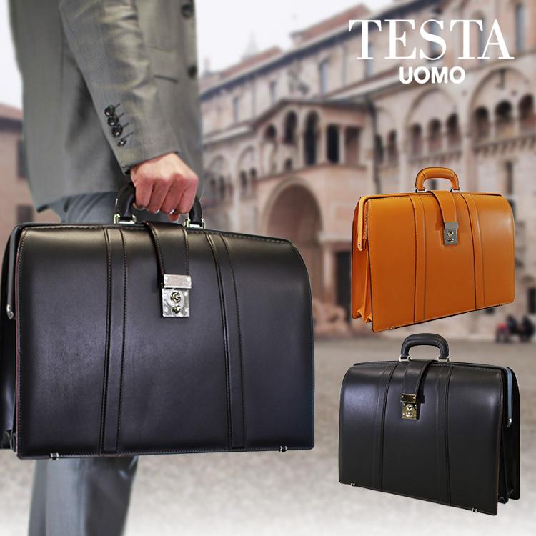 【店内全品送料無料&キャッシュレス5%還元】ダレスバッグ ビジネスバッグ メンズTESTA テスタ 本革 牛革 B4 横型 日本製 メンズバッグ バッグ プレゼント 鞄 かばん カバン bag 通勤バッグ 送料無料 ブランド business bag men's