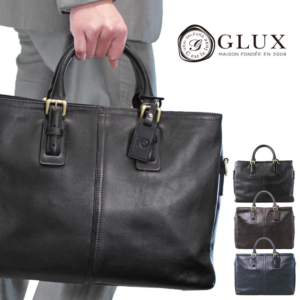 ビジネスバッグ メンズ A4 軽量 ブリーフケース GLUX グラックス Bag 革付属コンビ 2WAY 横型 ショルダーバッグ ショルダー付 三方開き メンズバッグ 斜めがけ バッグ プレゼント 鞄 かばん カバン bag 通勤バッグ 送料無料 ブランド business bag men's