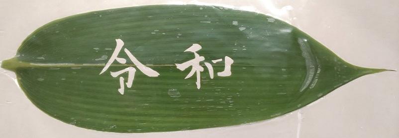 抜き笹 (NO.1) 笹の葉 (新元号令和) 50枚(枚約26×約7.5センチ)×20P (P1590円税別)業務用 ヤヨイ