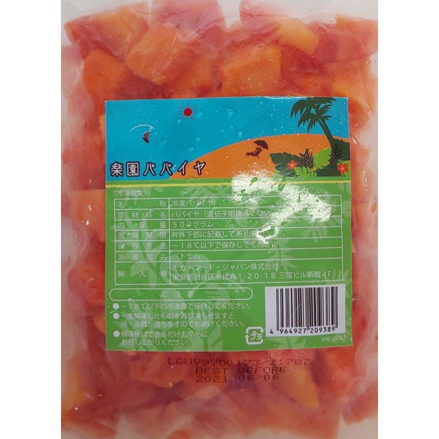 南国フルーツ 冷凍 パパイヤ 500g×20P(P620円税別) 業務用 ヤヨイ