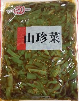 山クラゲの触感が抜群の商品です。 惣菜 山珍菜 (山くらげ醤油漬け) 1kg×15P(P1420円税別) 業務用 ヤヨイ マニハ