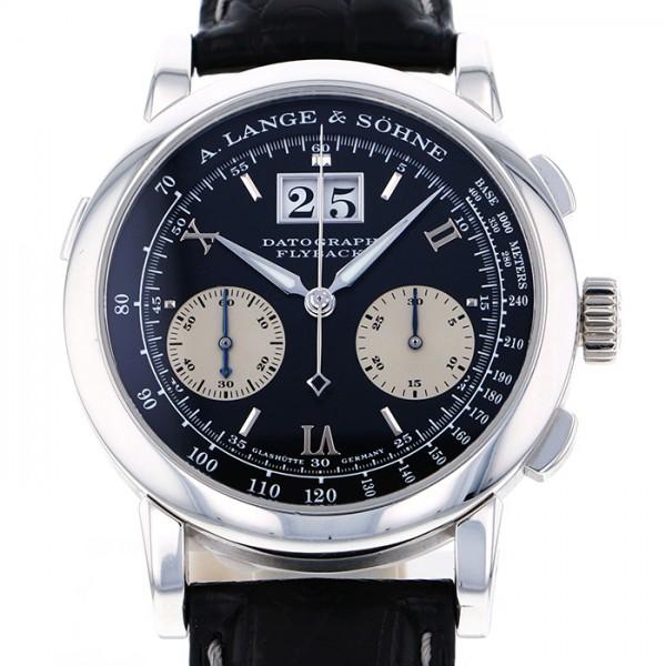 ランゲ&ゾーネ A.LANGE&SOHNE ダトグラフ 403.035 ブラック/シルバー文字盤 メンズ 腕時計 【未使用】