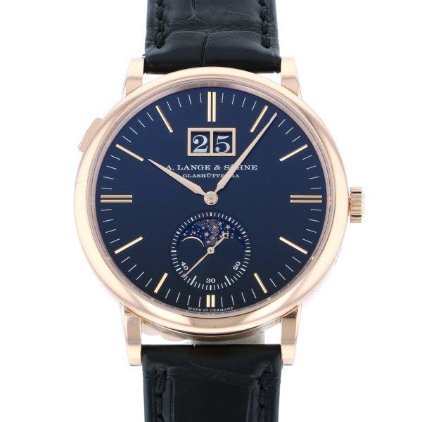 ランゲ&ゾーネ A.LANGE & SOHNE サクソニア ムーンフェイズ 384.031 ブラックローマ文字盤 メンズ 腕時計 【新品】