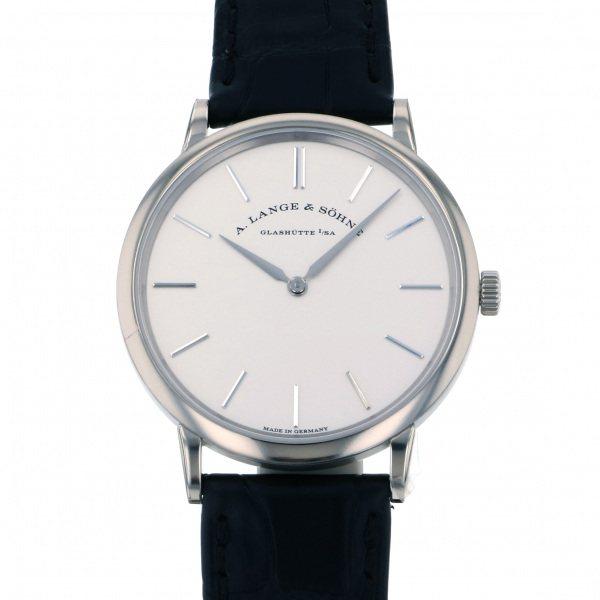 ランゲ&ゾーネ A.LANGE & SOHNE サクソニア フラッハ 201.027 シルバー文字盤 メンズ 腕時計 【新品】
